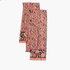 Madewell Assam Floral Silk Skinny Scarf